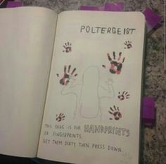 Wreck this journal poltegeist horror handprints hands ideas