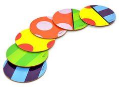 Felt Coasters, Diy Coasters, Arte Country, Cd Art, Cork Crafts, Kitchen Art, Crafts For Teens, Painted Rocks, Paper Art