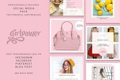 Girlpower - Social Media Pack by Pulpixel Design on @creativemarket