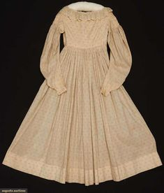 Dress (image 1) | 1838 | cotton | Augusta Auctions | May 10, 2016/Lot 1237