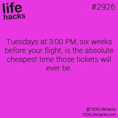 Life hacks: The cheapest way to buy a airplane ticket
