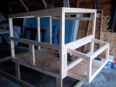 "The coop is 4' x 4' The run is 4' x 8'. The coop is 3' 2"" tall at the tall end and 2' 10"" on the tall end with 22"" of space under the coop. ..."