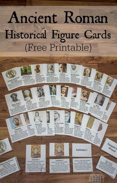 Free, Printable Montessori-Inspired Ancient Rome Historical Figure Cards for helping kids learn about important Ancient Romans Rome History, Ancient World History, World History Lessons, History For Kids, Study History, Mystery Of History, Middle School History, History Projects, Rome Activities