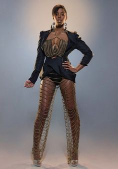 Kelly Rowland Wears Chain Mail Pants