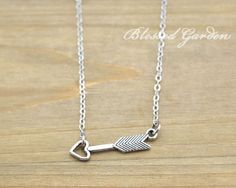 necklace,arrow necklace,love necklace, bridesmaid necklace,girlfriend gift,blessed garden
