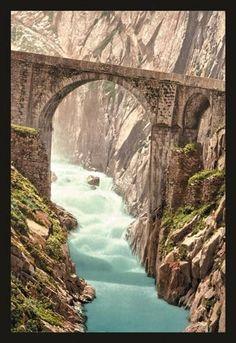 Devils Bridge, Andermatt, Switzerland 20x30 poster