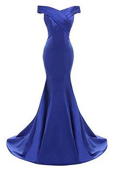 Off Shoulder Formal Dresses Sweep Train Vestido De Fiesta Mermaid Royal Blue Long Evening Dresses on Luulla Elegant Dresses, Pretty Dresses, Sexy Dresses, Formal Dresses, Formal Prom, Red Formal Gown, Satin Dresses, Maternity Dresses, Mermaid Bridesmaid Dresses
