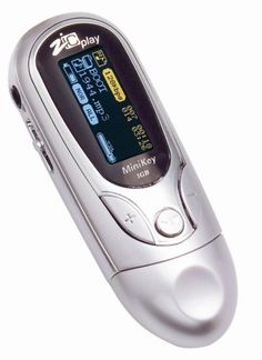 ZICPLAY MiniKey OLED MP3 player 1GB – Silver