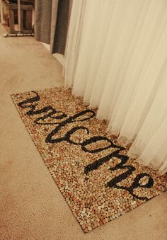 DIY stone welcome mat.