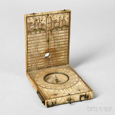 17th century ivory compass