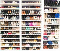 Kaley Cuoco Shoe Closet via The Coveteur