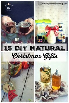 In the spirit of Zero Waste Christmas, here's 15 DIY natural Christmas gifts that you can make for friends and family.