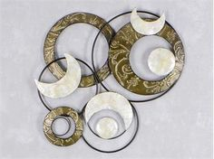 Fabulous Formano WAND DEKO Kreise Muschel aus Metall Breite cm H he cm