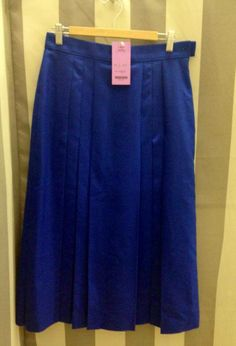 Blue pleated skirt S-M $16