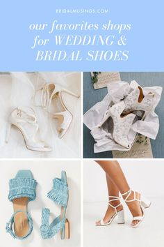 From flats, to heels, to booties to sandals, these are our favorite online stores to shop for your wedding & bridal shoes. #shoes #weddingshoes #weddingheels #bridalheels Designer Wedding Shoes, Bridal Wedding Shoes, Bridal Heels, Bridal Shoes Online, Bridal Entourage, Bohemian Sandals, Bridal Musings, Searching, Comfy