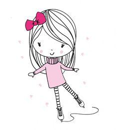 SVG cut files for circut and silhouette von PaulundClara Pencil Art Drawings, Doodle Drawings, Easy Drawings, Lotus Kunst, Lotus Art, Cute Cartoon Characters, Doodle Art Journals, Cartoon Sketches, Illustration Girl