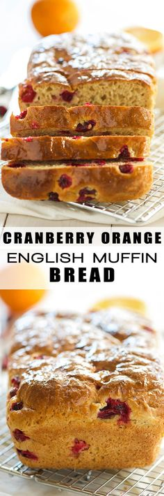 Cranberry Orange Whole Wheat English Muffin Bread is an easy quick ...