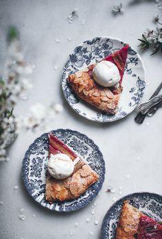 Rhubarb almond galette