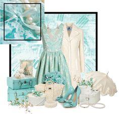 """Aqua Mint Beauty"" by stylesbyjoey ❤ liked on Polyvore"