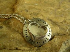 I Love You To The Moon And Back Necklace by KottageKreations, $29.00