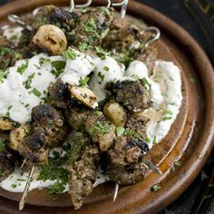 Greek-style Lamb Kebabs - sub ground lamb to make quicker recipe