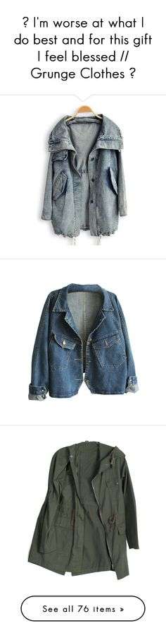 """""""✝ I'm worse at what I do best and for this gift I feel blessed // Grunge Clothes ✝"""" by alexa-the-narnian ❤ liked on Polyvore featuring outerwear, coats, jackets, tops, blue, long coat, trench coat, long sleeve coat, blue trench coat and lapel coat"""