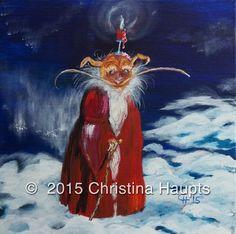Art,Kobold, Weihnachten, Acryl