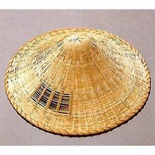 314 Natural Bamboo RONIN-Samurai Hat RONINGASA.Made in Japan. new