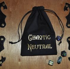 Dungeons and Dragons CHAOTIC NEUTRAL alignment by sparrowhawk9, $14.00