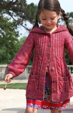 Sewing Gifts For Kids Lavanda - Knitting For Kids, Free Knitting, Knitting Projects, Knit Baby Sweaters, Girls Sweaters, Sweater Knitting Patterns, Knit Patterns, Knit Crochet, Crochet Baby