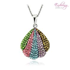 Enduring Jewels Multicolor Seashell Necklace with Made with Swarovski Elements at 70% Savings off Retail!
