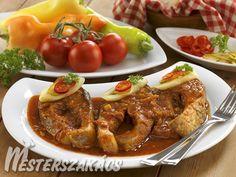Pontypörkölt recept Hungarian Recipes, Fish Recipes, Shrimp, Curry, Food And Drink, Soup, Dishes, Chicken, Fish Food
