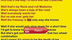 Elton John Rock And Roll Madonna Lyrics  This is a special versionperformance of this song the lyrics are being read by a computer voice This might be a hel