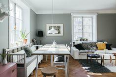 Een fijn Scandinavisch optrekje met een smaakvol kleurenpalet - Roomed
