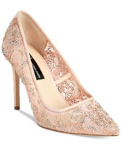 INC International Concepts Katyah Lace Pumps 87156df11dea