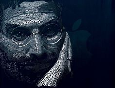 Portrait of Steve Jobs by Dylan Roscover Steve Jobs, Typography Inspiration, Typography Design, Lettering, 4k Ultra Hd Wallpapers, Typography Portrait, Typography Wallpaper, Wallpaper Quotes, Gill Sans
