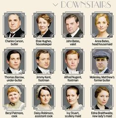 Who's who at Downton Abbey (downstairs)