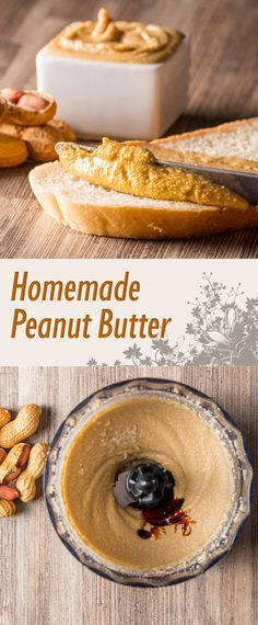 Homemade Peanut Butter Recipe: Homemade Peanut Butter is so simple to make, I have no idea who decided to put it in jar and pretend it is tough to make!