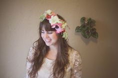 The Green Dandelion // Floral Design & Botanical Styling: lets all wear flowers // in the hair