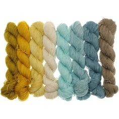 Fifties Gradient - Farbpalette Eisblau bis Ecru