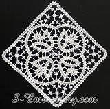 White Battenburg lace tablecloth rectangular 65 inches vintage hc2427