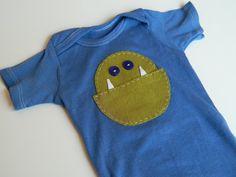 Baby Boy Monster Onesie Newborn Boy Monster by SissyBooBoutique, $15.00