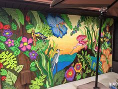 I am a tropical artist from Bradenton, FL. My goal is to bring my art to you through a wide array of colorful purses for the tropical lifestyle. Here's to livin' the beach life thru a tropical world of color. Tropical Colors, Tropical Art, Tropical Paradise, Palm Fronds, World Of Color, Love Painting, Wall Murals, My Arts, Birds