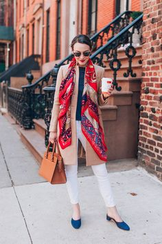 love this scarf chic outfit business casual