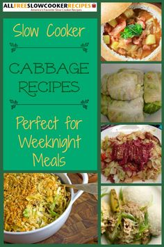 Slow Cooker Cabbage Recipes | It's hard not to love these recipes with cabbage. They're budget friendly recipes and ideal for weeknight dinners!