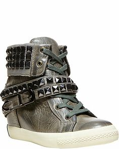 c4bcf90850fd Quirky fun hightops Wedged Trainers