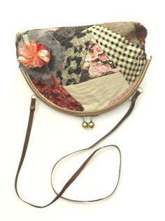 Bolso boquilla patchwork flor