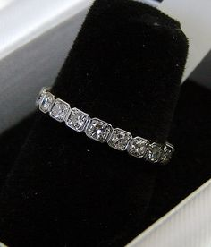 antique eternity ring - I already have an amazing eternity band...but maybe for a 5 yr anniversary gift (for my right hand)...hmmm or maybe 10 yrs...