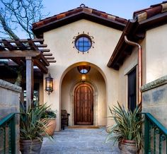 Wine Country Spanish Estate - mediterranean - entry - san francisco - Robert Baumann, Architect
