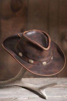 Raging Bull Leather Cowboy Hat ec27ba7bab44